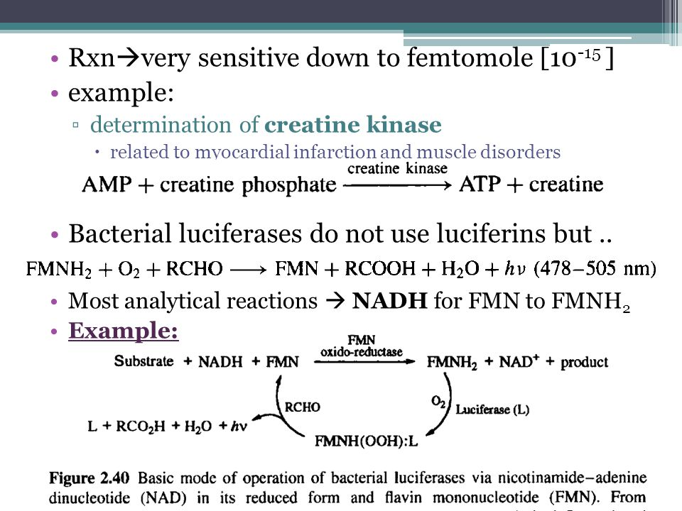 Rxnvery sensitive down to femtomole [10-15 ] example: